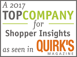 A 2017 top company for shopper insights
